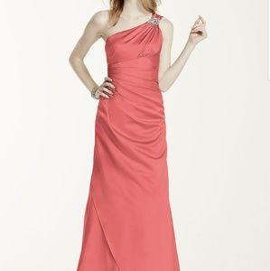 Davids bridal bridesmaid dress, color apple